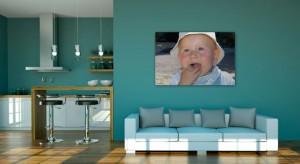 Photo de bébé imprimée sur une toile