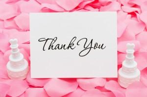 Toute l'inspiration pour vos cartes de remerciement de mariage!