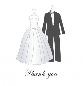 Ecrire les cartes de remerciement de mariage: idées