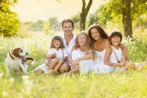 Album de famille avec des photos de famille au complet