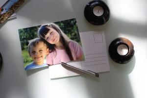 Une carte postale personnalisée, à offrir ou à envoyer