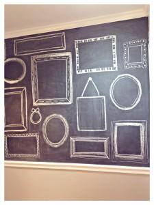 Un cadre photo personnalisé réalisé sur une ardoise