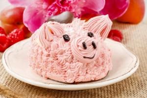 Un petit cochon en crème patissière