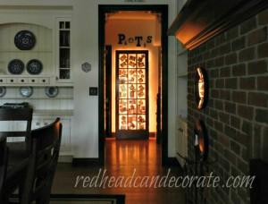 Une porte cadre photos illuminée: un effet magique!