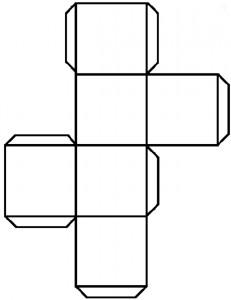 Cube photo fait maison